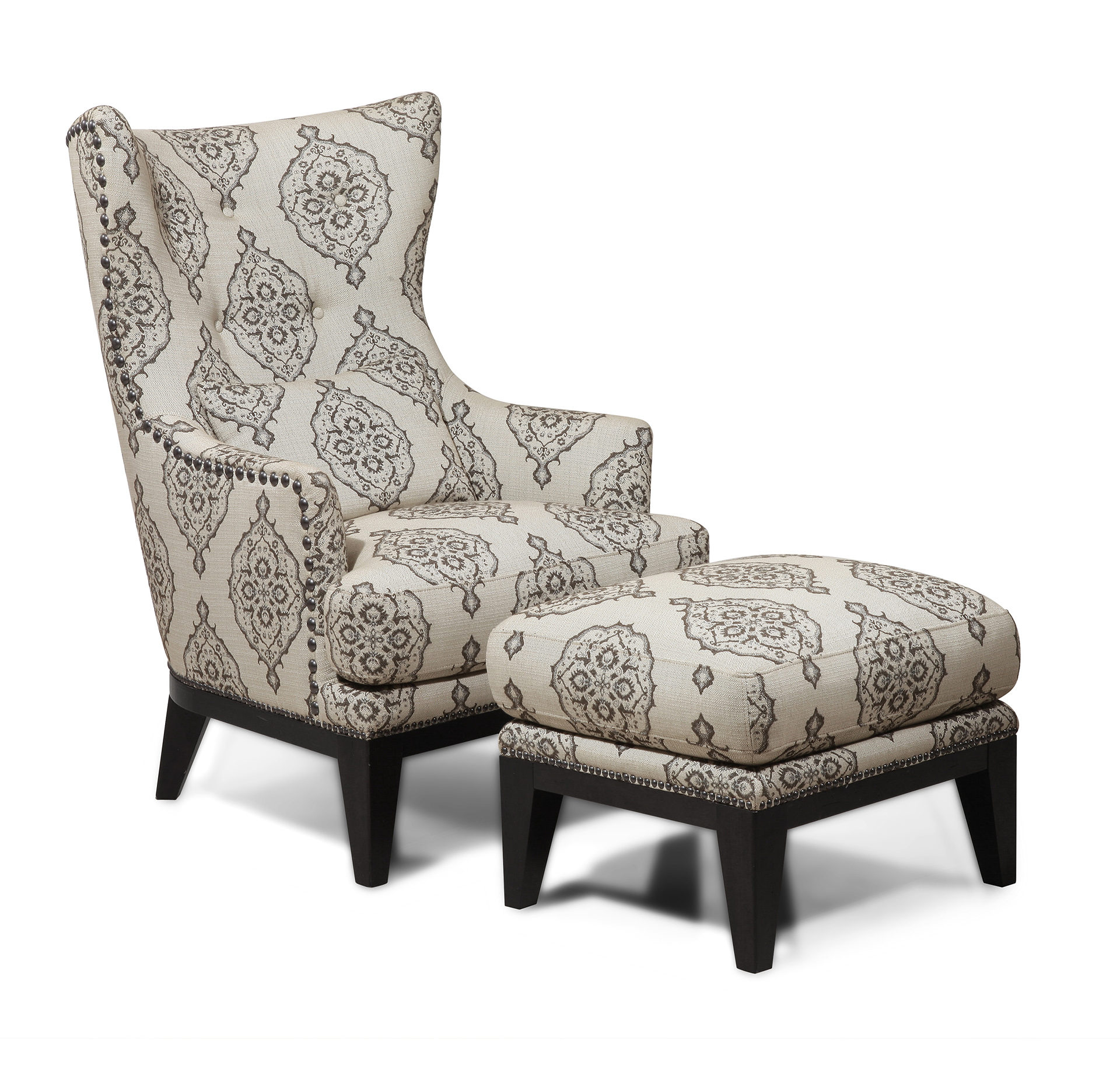 Brewster Accent Chair u0026 Ottoman  sc 1 st  Simon Li Furniture & Accents » Simon Li Furniture